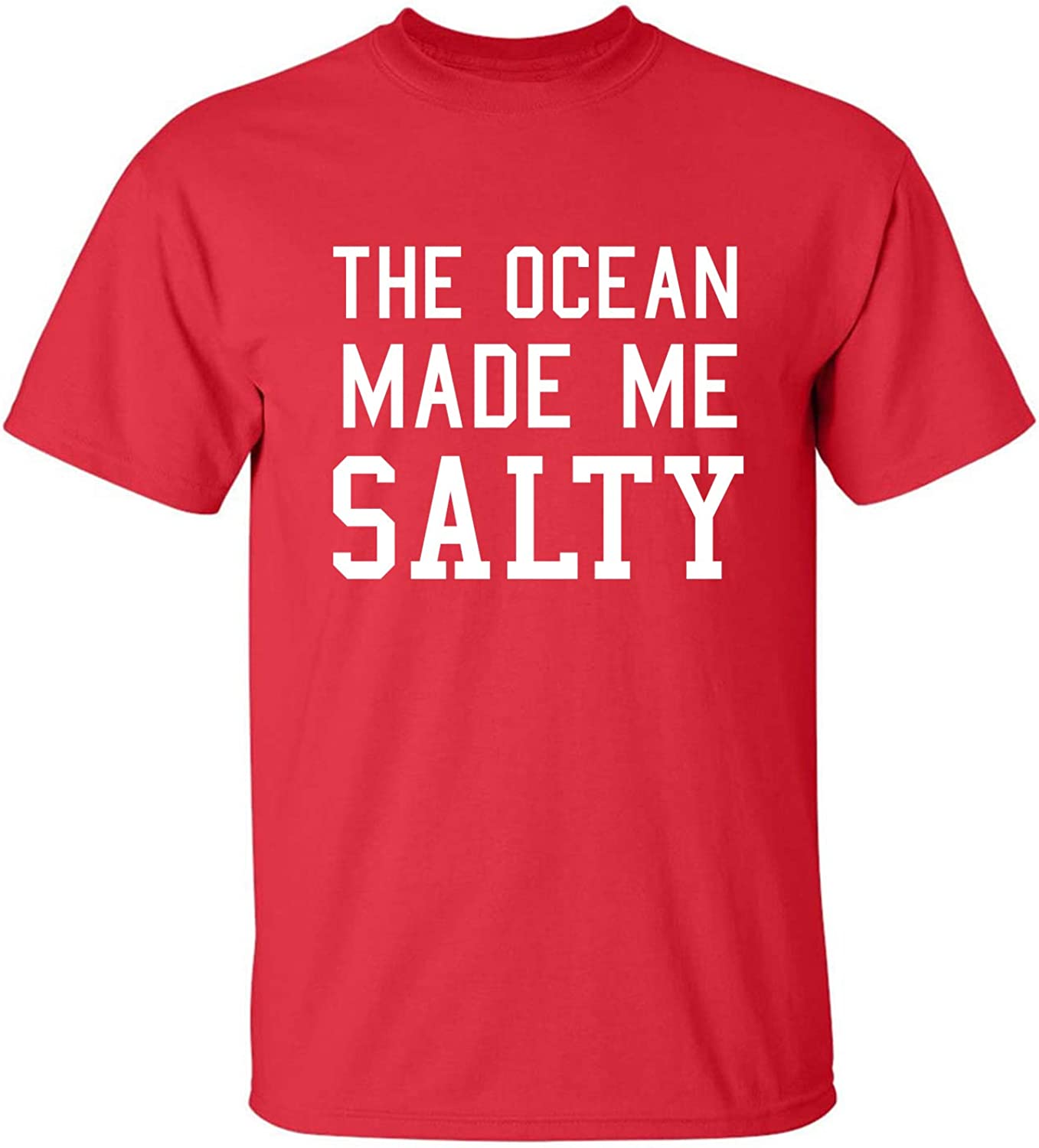 The Ocean Made Me Salty Adult Short Sleeve T-Shirt