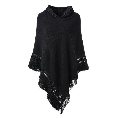 7e7035daf0c Black Poncho Sweater: Amazon.com