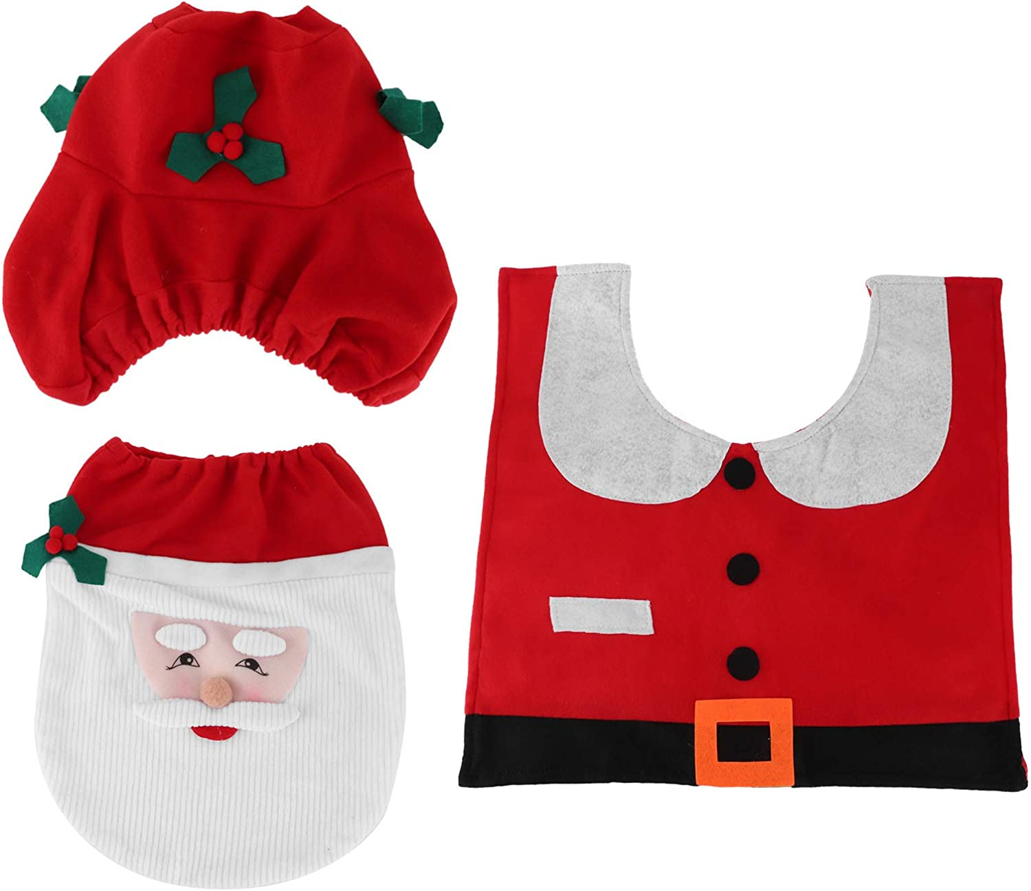 CHADOUsm Santa Toilet Cover Foot and Cov Tank Sale item Pad low-pricing Water