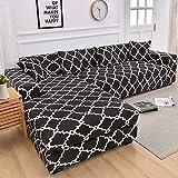 WXQY En Forma de L Necesidad de Comprar 2 Piezas, Esquina de la Sala de Estar Cubierta de sofá elástica elástica Todo Incluido Cubierta de sofá a Prueba de Polvo Toalla de sofá A6 2 plazas