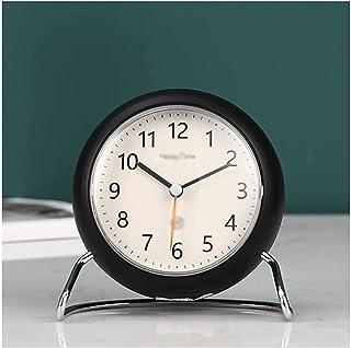 Reloj despertador simple, digital lindo, redondo, portátil, silencioso, reloj de escritorio con luz nocturna, para estudio...