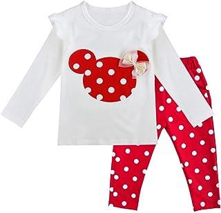 IEFIEL Conjuntos de Top y Pantalones Largas Camiseta de Manga Larga + Leggings para Niña Bebé Camisa Cómodo de Algodón Rop...