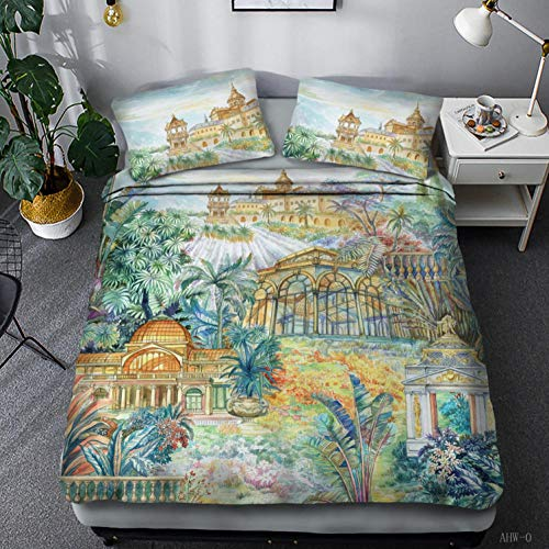 LJJYF Ropa De Cama para NiñOs,3D European Style Duvet Cover Set Single Double King Size Print Duvet Bedding Set Children's Bedroom-G_240*220cm(3pcs)