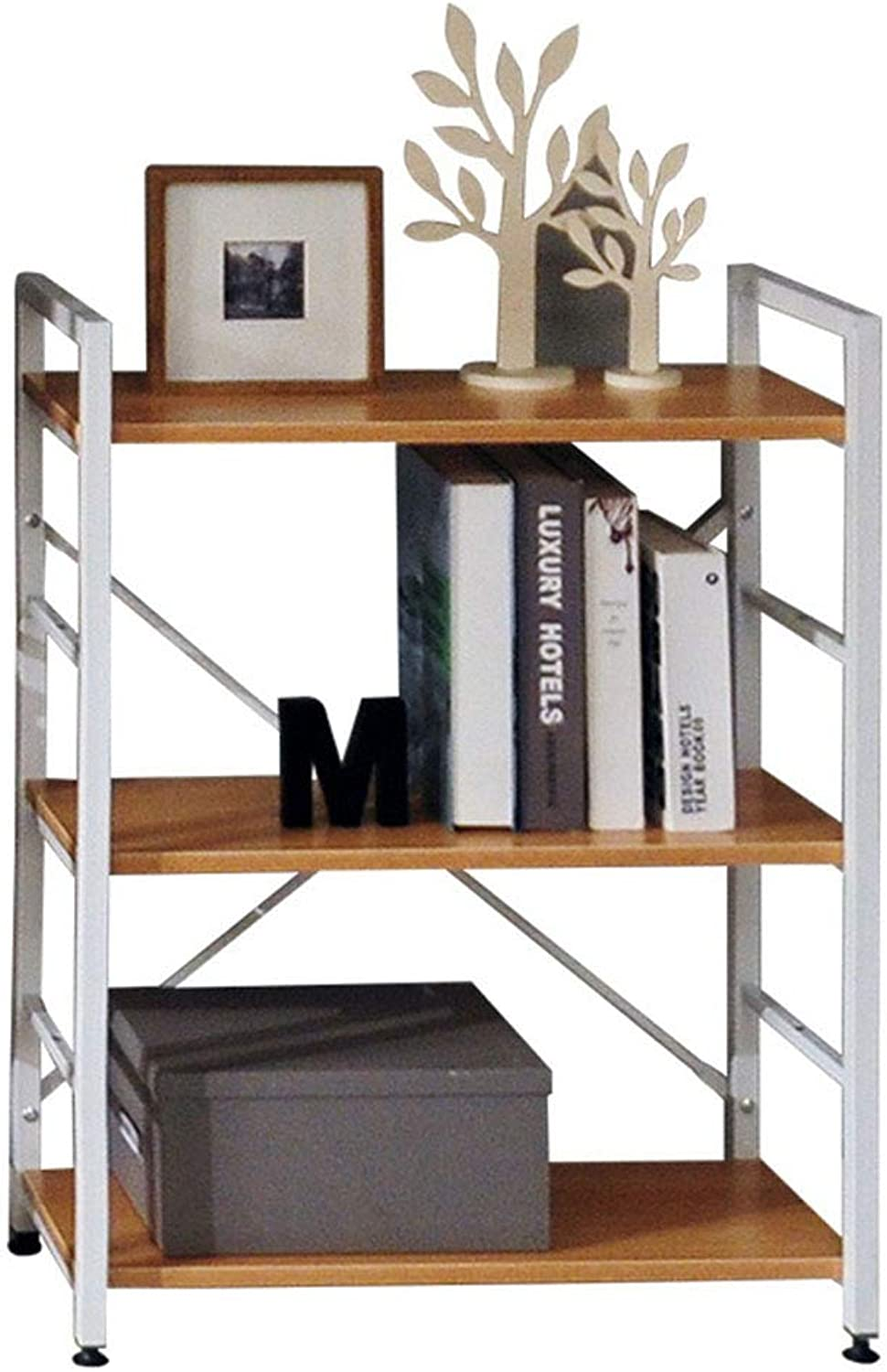 Shelves Storage Rack Shelf Rack Bathroom Shelf Flower Rack Wrought Iron Bookshelf (color   Brown, Size   28  60  82cm)