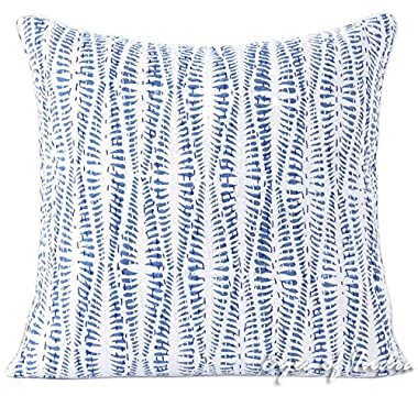 Eyes of India 20  Blue Kantha Gray Grey Decorative Pillow Throw Sofa Cushion Cover Couch Colorful Boho Bohemian Indian