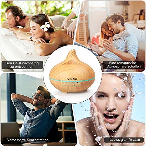 InnooCare Ultrasónico Humidificador 500ml Aromaterapia...