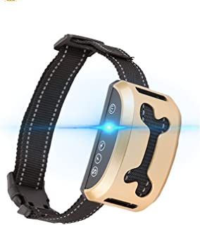Mumoo Bear Dog Bark Collar, Rechargeable Stop Barking Collar with 7 Adjustable Sensitivity and Intensity Levels, Gold