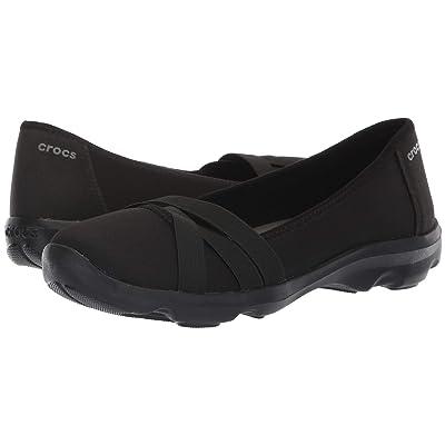 Crocs Busy Day Strappy Flat (Black/Slate Grey) Women