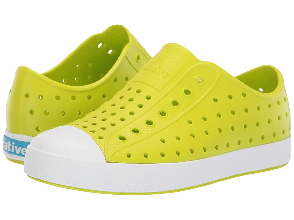 Native Kids Shoes Jefferson (Little Kid/Big Kid) (Glo Green/Shell White) Kid