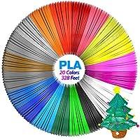 Pluma 3D Filamento PLA y ABS, Aerb 3D Pen Filamento de 20 Colores, 1,75mm