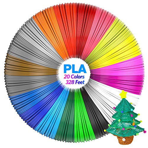 Aerb 3D Printing Filament, 20 Packs PLA 3D Pen Filament Refills, No smells...
