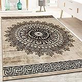 Paco Home Tapis De Créateur Poils Ras Salon Chiné Motif De Formes Géométriques Brun, Dimension:120x170 cm
