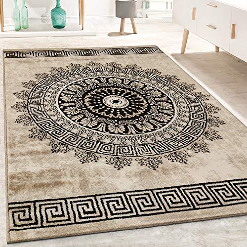 Paco Home Designer Teppich Kurzflor Wohnzimmer Meliert Geometrische Formen Muster In Braun, Grösse:120x170 cm