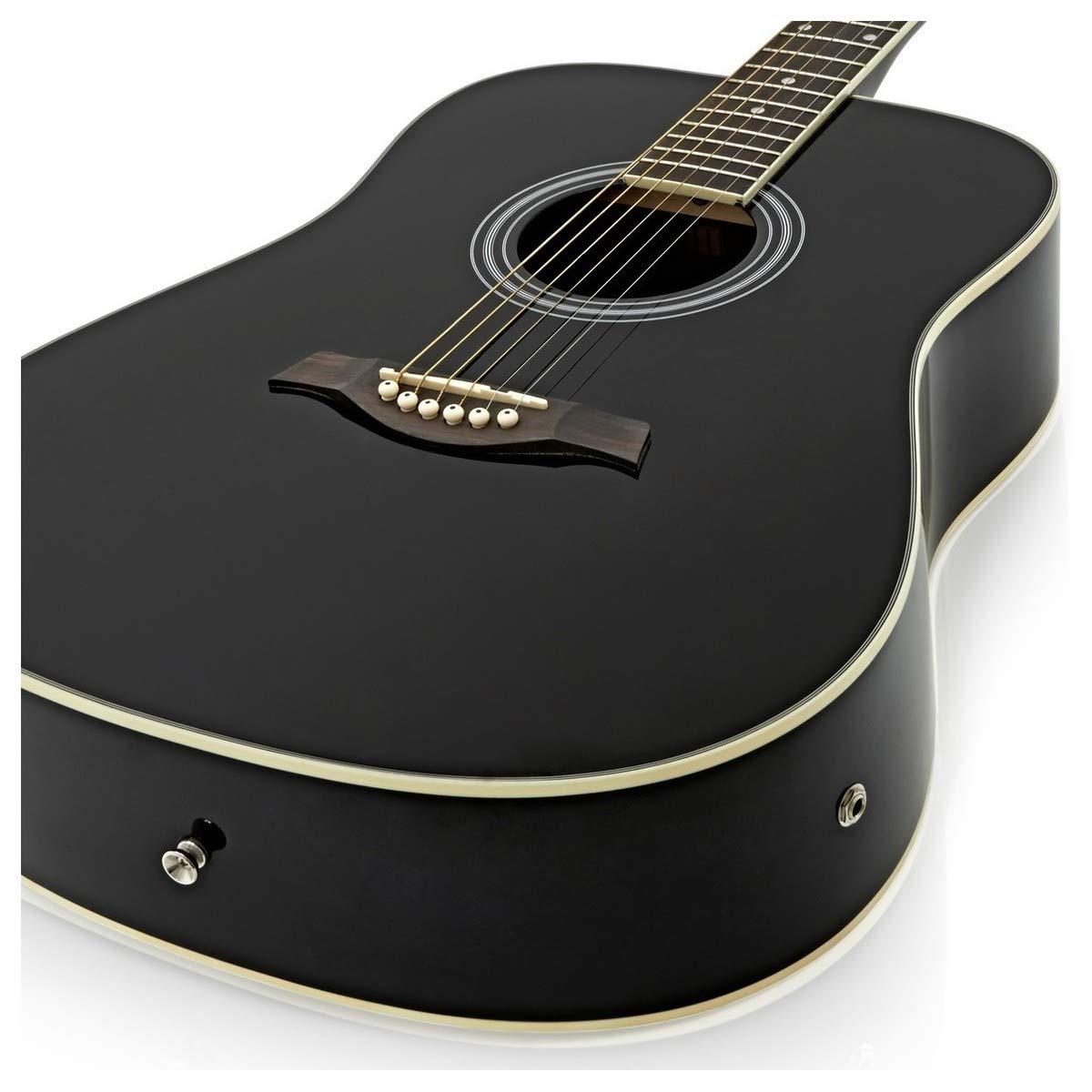 Guitarra Electroacustica Dreadnought + Pack Ampli 15W Negro ...