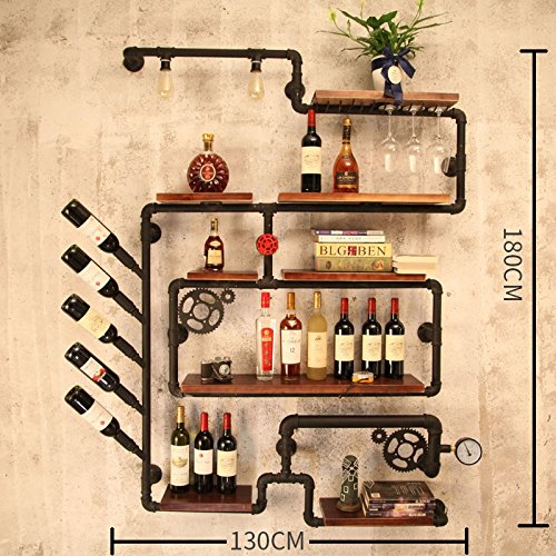 Wine Rack - Loft Industrielle Vintage Weinregal Rohr Bar Cafe Restaurant Wand Weinregal Alkohol Kabinett Wein Glas Rack Felice Home