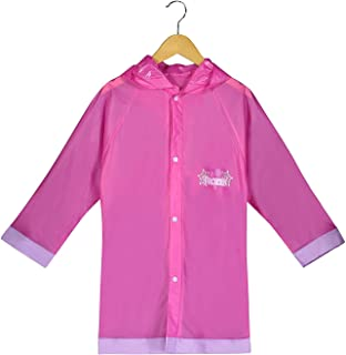 Size 9//10 White animator Disney Collection Rain Jacket and Hat for Kids