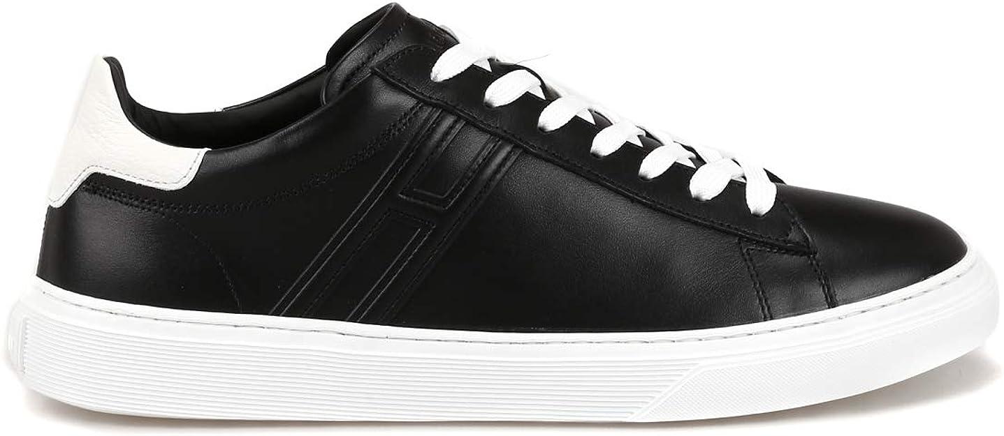 Hogan Sneaker H365 Nere in Pelle HXM3650J960KFN0002 Nero Uomo 11 ...