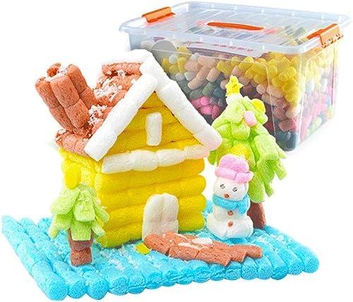 Little Toys Kinderspielzeug Intellektuelle Entwicklung Handbuch Material Paket DIY Maiskorn Kreative Kindergarten Kreative Puzzle Bausteine  pielzeug (Größe   B)