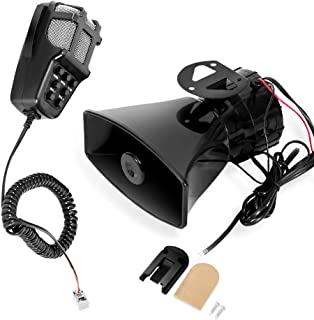 MOTL 100W 12V 7 Tone Sound Car Siren Speaker Mic PA System Emergency Sound Amplifier