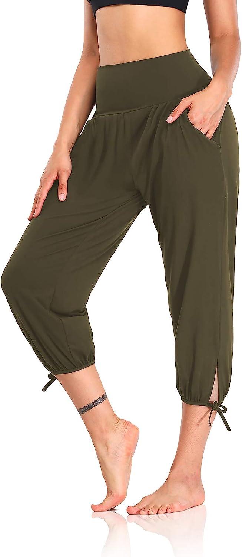 DIBAOLONG Womens Yoga Pants Capri Loose Workout Sweatpants Comfy Lounge Joggers with Pockets