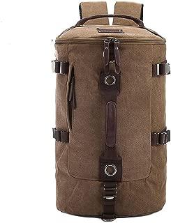 Arder Multifunctional Wearable Shoulder Bag Men's Sports Canvas Bag Large Capacity Travel Outdoor Hiking Backpack Shoulder Messenger Bag Relaxed (Color : Gray)