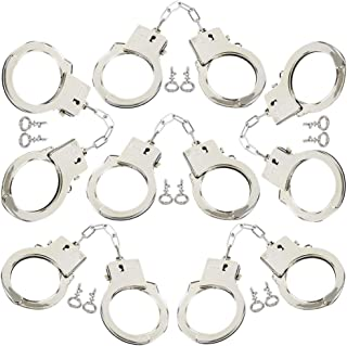ArtCreativity Plastic Play Handcuffs for Kids, Set of 6, Pretend Play Toy Handcuffs with 2 Keys, Stage or Costume Prop, Fu...