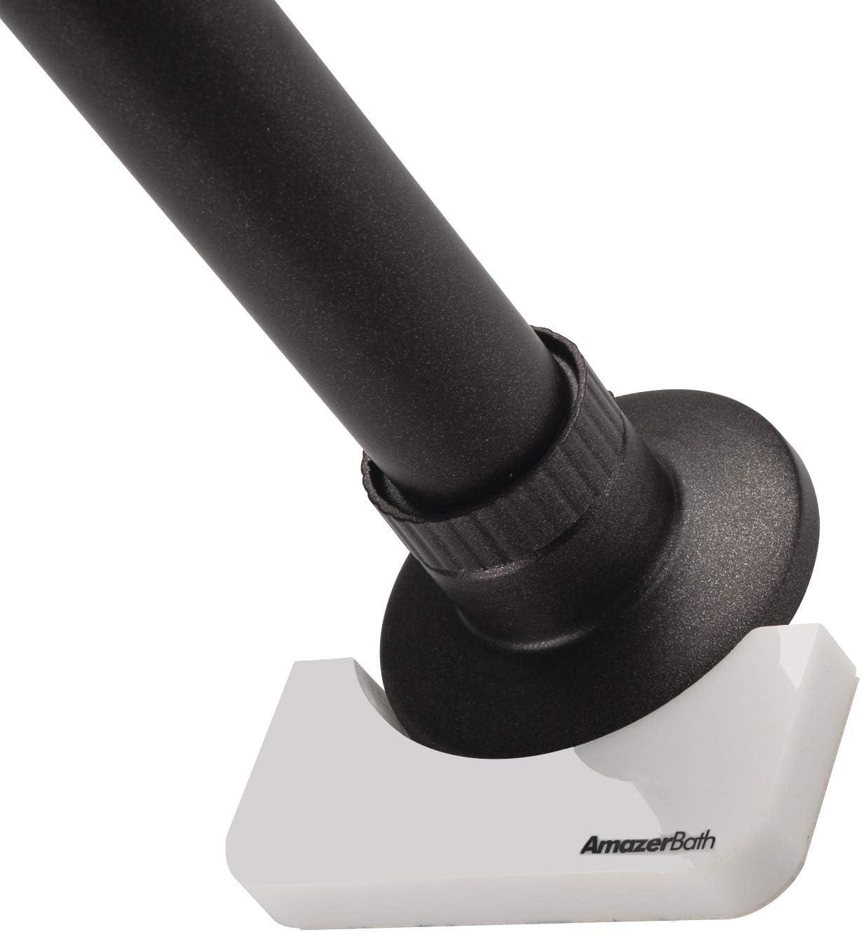 AmazerBath Shower Rod Holders Adhesive Indefinitely Raleigh Mall Bathroom Holder