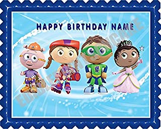 SUPER WHY (2) - Edible Cake Topper - 7.5
