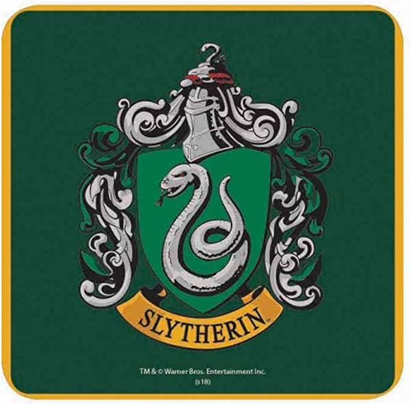 Genuine Warner Bros Harry Potter Slytherin Crest Single Coaster Drinks Mat Hogwarts