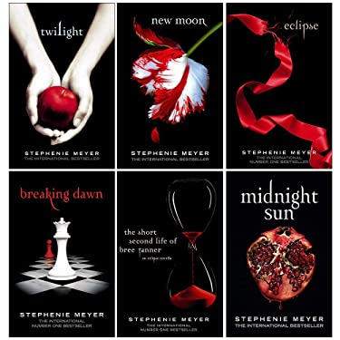 Twilight Series Stephenie Meyer 6 Books Collection Set (Twilight, New Moon, Eclipse, Breaking Dawn, The Short Second Life Of Bree Tanner, Midnight Sun)