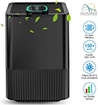 BOYON Air Purifier with H13 True HEPA Filter with 5 Stages Filtration, Air Quality Sensor and Sleep Mode, Large Room Air Purifier 270 SQ.FT for Home/Office (Available for California)