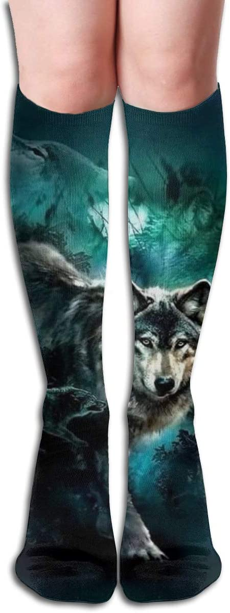 Wolf Potable Casual Socks Athletic Socks for Women and Mens Sports, Travel, Party Etc 19.7 Inch