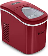 Deco Gear Rapid Electric Party Ice Maker Compact Top Load 26 Lbs. Per Day Capacity Great For Hosting Never Run Out Of Ice Again (Red)
