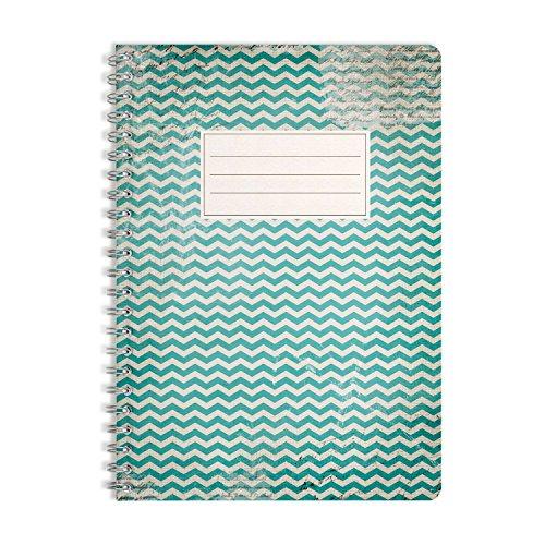 WIREBOOKS Notizbuch   Notizblock   Notizheft   Spiralblock 5048 DIN A5 120 Seiten 100g Papier blanko
