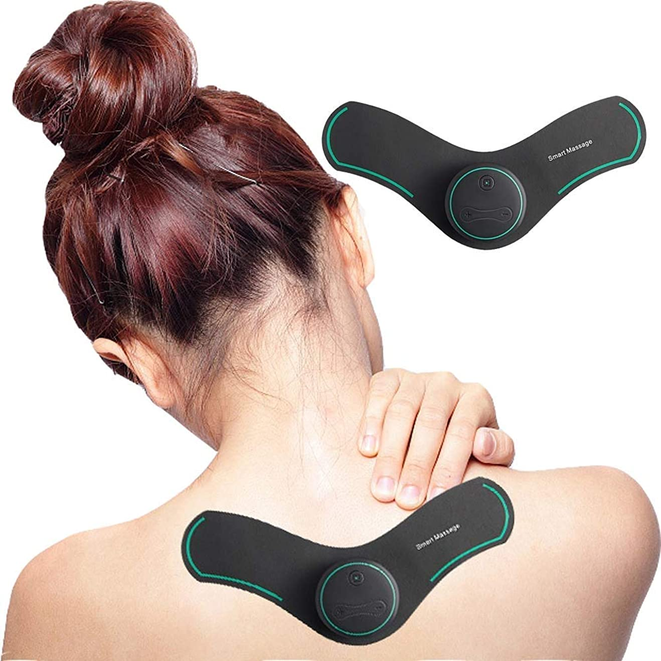 解決細胞異形RANRANJJ バックネック坐骨神経痛、疼痛管理、筋肉の軽減に効果的なTENSミニマッサージャー筋肉刺激装置 (Color : Green)