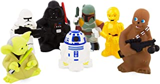 Star Wars Disney Parks Exclusive Set of 7 Character Squeeze Bath Tub Pool Toys