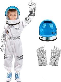 لباس فضانورد Meland برای کودکان - کت و شلوار فضایی کودکان با کلاه ایمنی فضانورد ، هدایای تولد برای دختران پسران ، کودکان نوپا وانمود می کنند لباس بازی سفید بازی می کنند