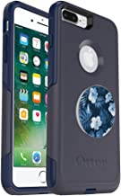 Bundle: OtterBox Commuter Series Case for iPhone 8 Plus & iPhone 7 Plus (ONLY) – (Blue) + PopSockets PopGrip – (Blue Island)