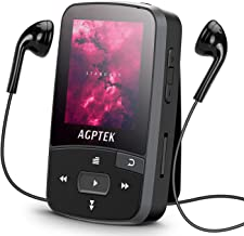 16GB Clip MP3 Player with Bluetooth 4.0, AGPTEK A50S Lossless Sound Music Player with Armband for Sports, Supports FM Radi... photo
