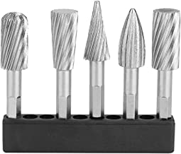 Fresa Ranuradora Conjunto de Fresas Rotativas, 5 Piezas de Acero de Alta Velocidad Conjunto de Herramientas de Raspador Rotativas de 1/4 Mangos para Herramientas de Aluminio y Hierro