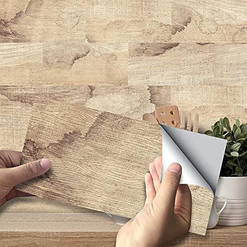 Swinno 54 pegatinas autoadhesivas para azulejos de pared, color gris, impermeables, para decoración de azulejos (20 x 10 cm)
