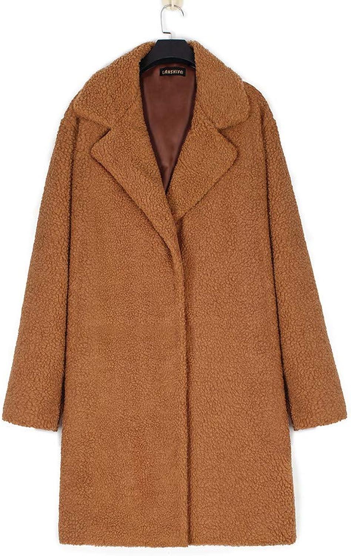ISkylie Womens Solid Fuzzy Faux Fur Coat Winter Cardigan Oversized Outwear Long Sleeve Jacket