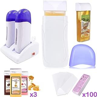 SuperMega® Wax B121 White - Calentador de cera caliente 2 cartuchos + 3 cera