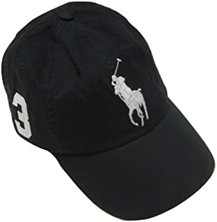 Polo Ralph Lauren Mens Big Pony Chino Sports Hat, Polo Black