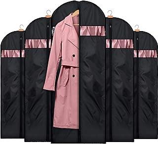 HOUSE DAY Lot de 5 Sacs à vêtements Lavable Anti-Poussière Housses de Protection avec Fenêtre Transparente pour Chemise, R...