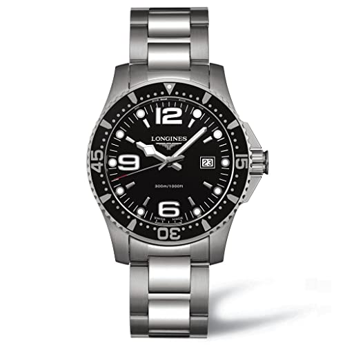 Longines Mens L3.640.4.56.6 Hydro Conquest Black Dial Watch