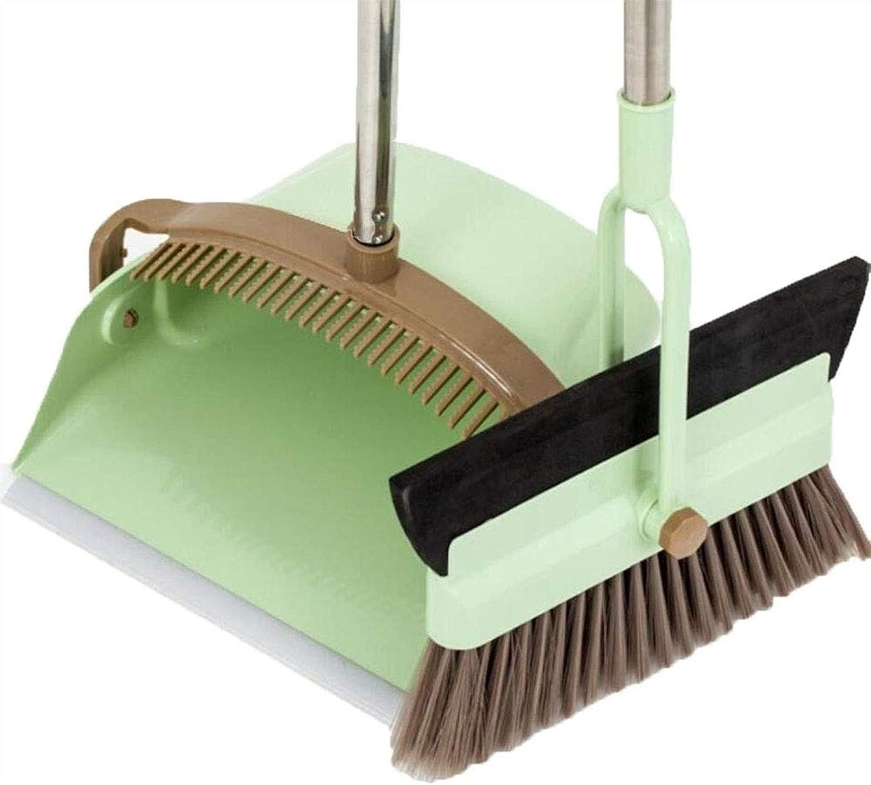 HIZLJJ Broom Regular dealer NEW before selling ☆ and Dustpan Set for Sweeping Grip Good D Thorough