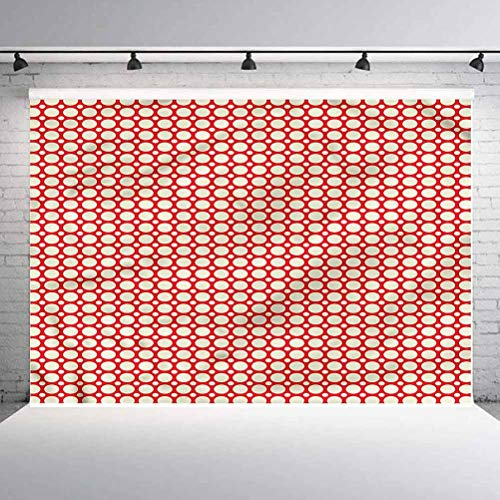 5x5FT Vinyl Wall Photography Backdrop,Retro,Big Small Polka Dots Background for Baby Birthday Party Wedding Studio Props Photography