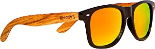 Woodies Zebra Wood Sunglasses with Mirror Polarized Lens for Men and Women
