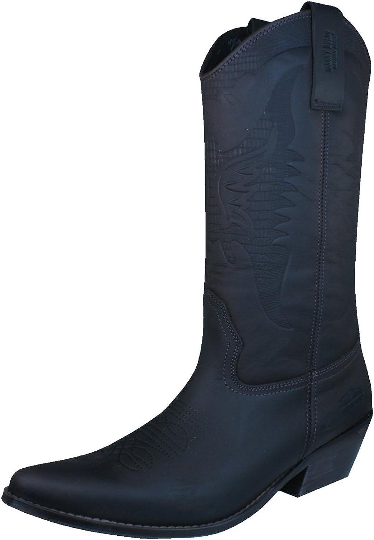 Johnny Bulls Sprinter Mens Tall Leather Cowboy Boots